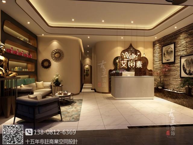 以东南亚特色风格打造,微带禅意的空间设计,给顾客意境的体验,空间设计干净、整洁。