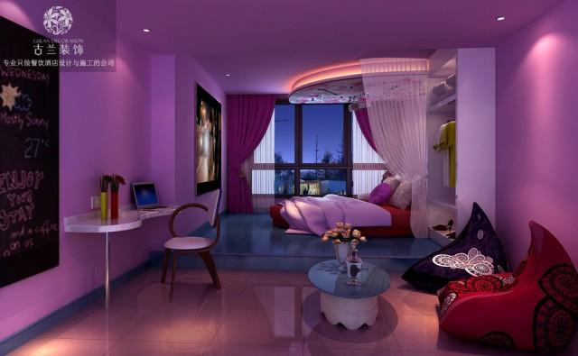 设计说明:哎角主题体验式酒店设计项目在成都市九眼桥附近,由于九眼桥独特的娱乐氛围,导致了酒店设计的白热化,整体酒店设计从各种地域,各种风情,各种文化的酒店设计中提炼出来时下酒店客户群体会去关注的酒店风格融合在一起,组成了独属于哎角主题酒店的酒店风格,在周围特定的酒店项目中保持了一定的竞争优势。在哎角酒店设计的时候,通过外部装饰的设计手法营造出海洋味十足的主题房,迎合了一些年轻的酒店客户群体在浪漫的晚上拥有与众不同的酒店客房体验,从而提升酒店客户群体的满意度和舒适度。