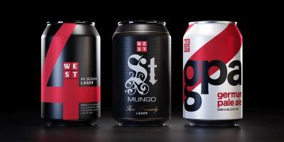 WEST罐装啤酒包装设计欣赏