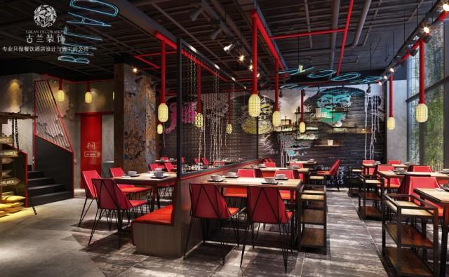 西宁餐厅设计,西宁火锅店设计,西宁餐厅设计公司