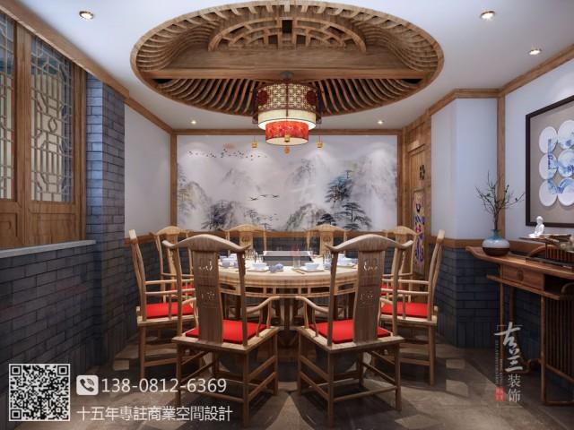 苏州中式火锅店设计装修公司 无锡悦龙府毛肚火锅店设计公司
