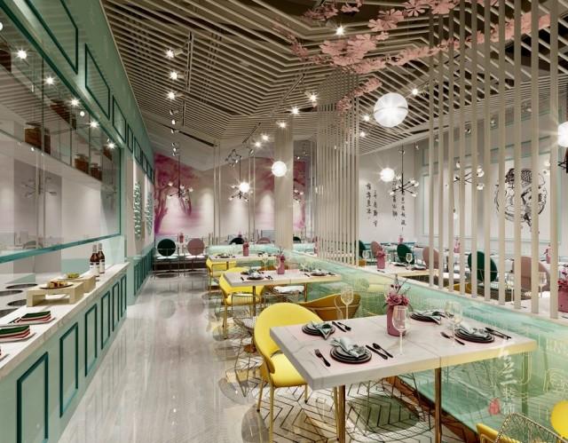 西宁餐厅设计公司   鱼东家藤椒酸菜鱼餐厅设计项目案例赏析