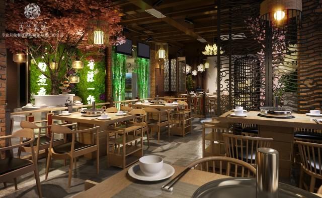 西宁餐厅设计公司 |牛华绿缘串串香设计案例