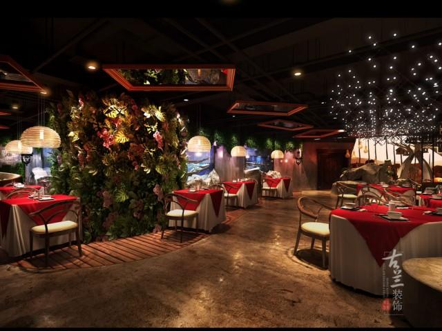 贵阳案例设计|荒石音乐餐厅大小设计主题名片设计的餐厅规格图片