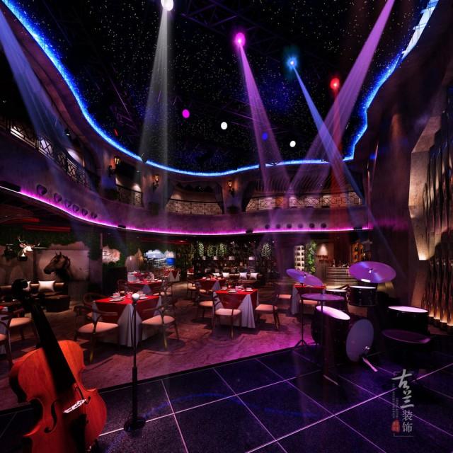 贵阳餐厅设计|荒石音乐主题餐厅设计案例赏析