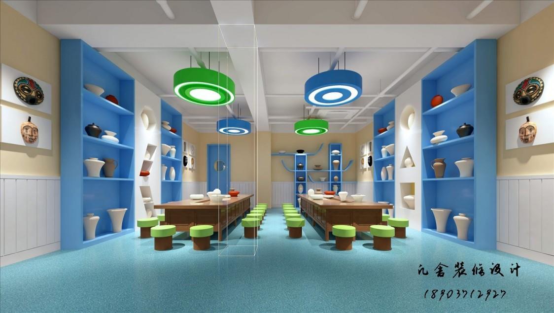 郑州幼儿园设计-1100平方欧式风格幼儿园设计效果图