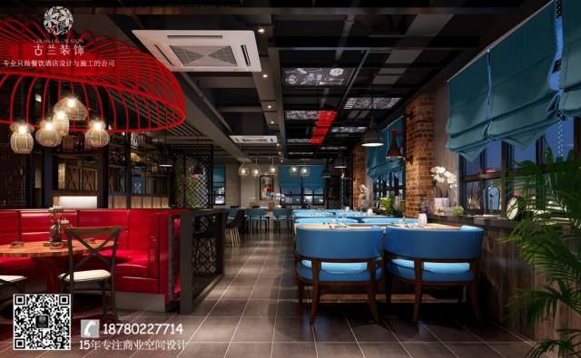 餐厅中的红色是点睛之处,纯色的桌椅、复古的吊饰、雅致的配饰,让每个凝视都是惊喜,令人仿佛置身于园艺中一样。小资文艺的路线油然而生。