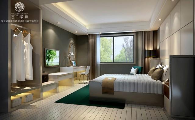 设计说明:功能上面古兰装饰公司设计做出大胆改革.每个房间在设计时采用,现在主流酒店能用的到主题风格,商务风格,新加智能家具等