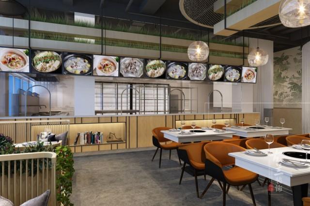 兰州餐厅设计 | 壮骨气骨头汤锅店(成都店)设计案例