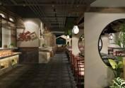 成都餐厅装修公司-资阳河鲜餐厅设计<