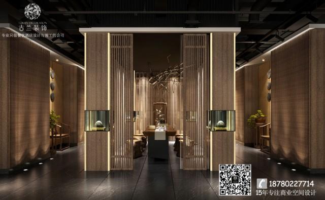 白色的墙壁,饰以独特的木质纹理,朴实又不失格调,而层层透光的竹排,构成空间的亮点,创造了自然的禅意之美。