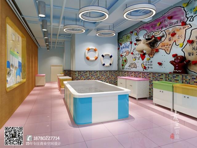 打造当地商圈最具特色的儿童乐园项目功能区:前台接待区、淘气堡、儿童游泳区项目创意理念:根据项目自身情况,采用丰富的色彩搭配,迎合儿童对颜色的感官需求,设计出一个彩虹色彩的主题乐园。