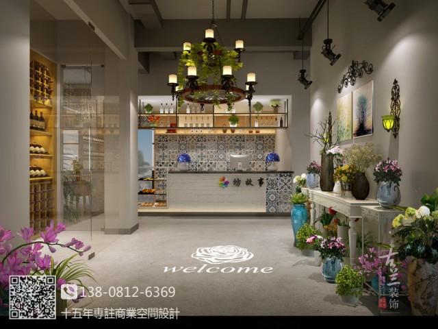 内江西餐厅设计装修公司-邛崃花坊故事餐厅设计装修效果图