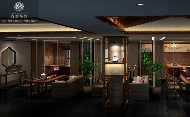 南京餐厅设计公司|禅心禅茶设计|专业餐厅装修案例