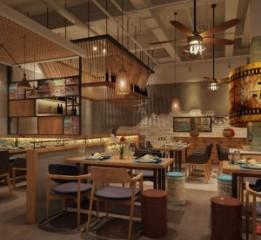 兰州中餐厅设计公司 双流一加亿中餐