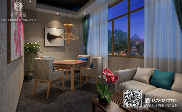 蓉城小馆中餐厅设计效果图|合肥餐厅装修公司