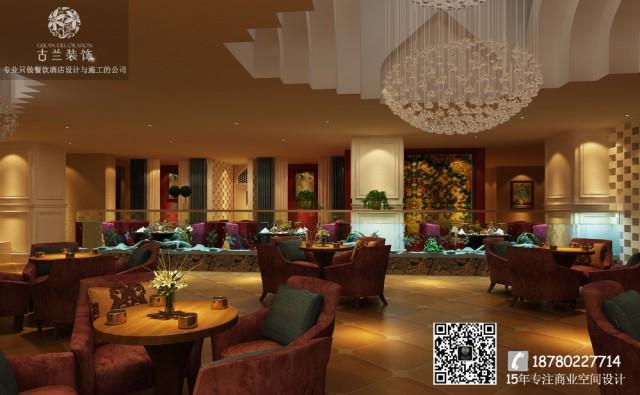 豪亭室内空间很大,所以里面桌椅的摆放不用太拥挤,错落有致的摆放增强区域的明确性,人们可以更好地  区分西餐区和散客区。