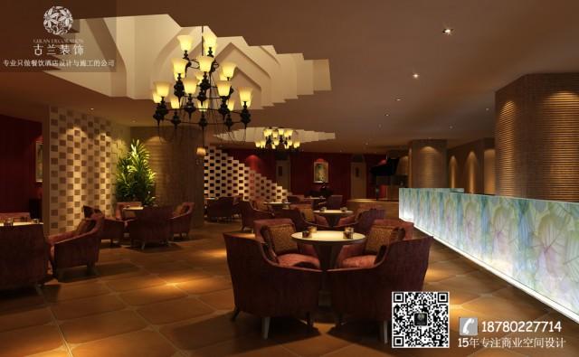 杭州餐厅设计师把咖啡厅的几个功能把服务台和吧台位置重新组合,增加了几个私密性比较强的卡座,在整个空间软装重新搭配。布局的调整让空间的流动性增强了不少。