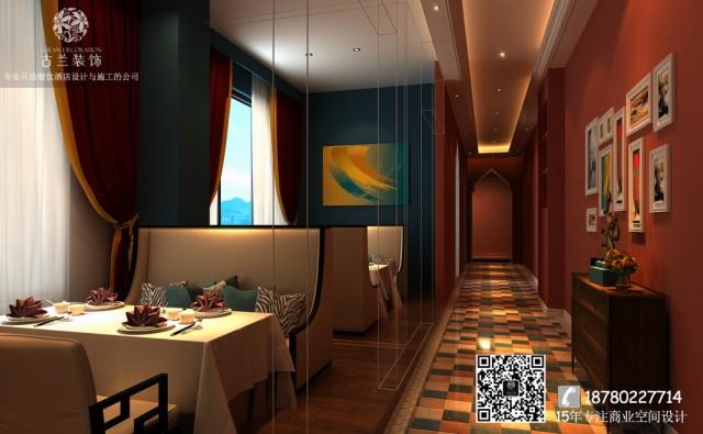 除了主要的休息区之外,咖啡厅还增加了包间,更加注意客人的隐私。包间的靠窗设计在空间里面可以说别  具一格,独特的墙壁让它格外明显又好看。