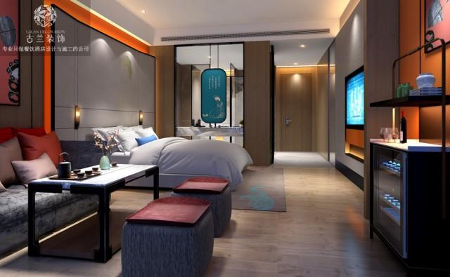 多功能的休息区可以满足客人不同的需求,酒柜为客人提供了红酒等,听说睡前喝点红酒可以美颜哦!居家的设计风格,让客人有宾至如归的感觉。上下楼的设计,节约了空间,并且造型简约时尚。创意的圆环的吊灯设计,让空间充满艺术感。
