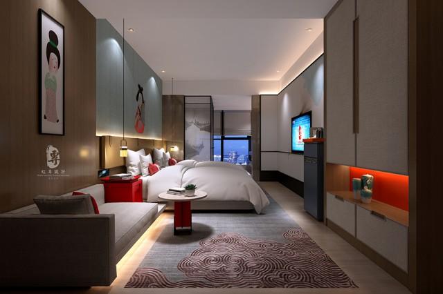 精品酒店主打精致有格调,少量红色的运用可以提亮整个空间,让人激情焕发,比如在客房休息区放置一款红色的抱枕,可以很好的打破空间的沉寂,客人往沙发一坐,把抱枕搂在怀中,享受惬意生活;也可是一款红色的沙发,红色的椅子,让整个酒店空间充满暖暖的情怀,也可以是红色的地板砖、红色的窗帘,让整个酒店空间动静结合,风情万种。