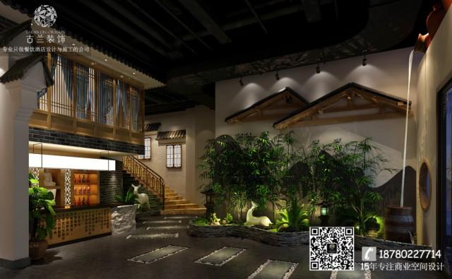 马厚德坐落在成都简阳旭海时代广场中。因为地处商业地段,所以设计师更用心的规划构思,用颜色、灯光、门头、空间平面布局等来表现餐厅的特色,从而达到吸引眼球的效果。
