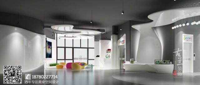 青海西宁早教中心设计公司-成都巧克力梦工厂综艺培训机构装修效果图