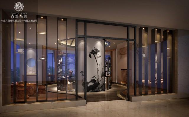 雅安名山福隆茶艺馆设计案例-成都茶艺馆装修设计