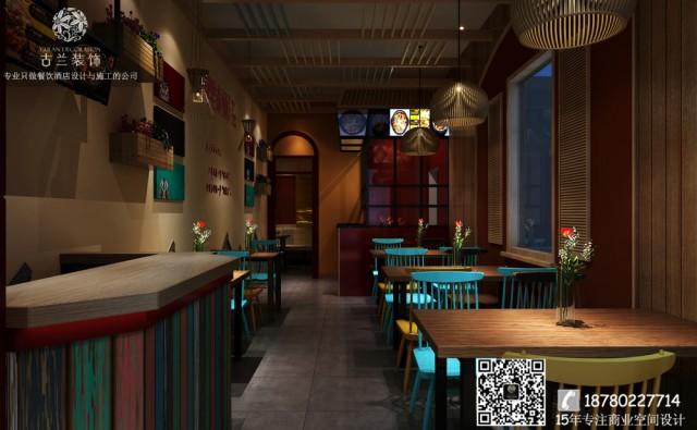 大连餐厅设计装修公司-专业餐厅装修案例-冒里求师快餐厅装修效果图