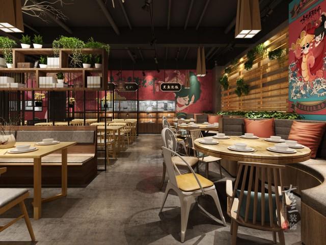 重庆餐厅设计-一条乌鱼泡龙虾店设计项目分享