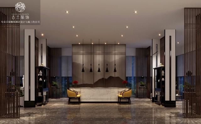 """设计说明:昆明航城国际花园酒店作为古兰装饰公司在昆明的代表作品,其酒店的度假性及精品属性在设计团队的深挖细掘中表现的淋漓尽致,酒店超具视野感的客房和超大花园都让该酒店项目在区域范围内众多酒店中脱颖而出,成为该区域范围内极具竞争力的精品度假酒店,在该度假酒店设计时,古兰装饰公司将昆明当地的文化元素和生活美学融合在一起,让酒店具备舒适感的同时,也让酒店拥有属于酒店本身的气质。昆明,享""""春城""""之美誉,这里空气清新、天高云淡、阳光明媚、鲜花常开。因此也吸引了一大批游客前往,是逃离城市的""""诗与远方""""。设计师将昆明当地的文化元素和生活美学融合在一起,让酒店在具备舒适感的同时,也让酒店拥有属于本身的独一无二的气质。空间宽敞的酒店大堂采用落地窗的形式,让客人从视觉上就能感受到花园的氛围,有隔离外界的喧嚣回归尘俗的感受。是酒店也是花园,是一处让人身心愉快的场所。餐厅也采用落地窗的形式,客人在就餐的同时也能看到花园的风景,同时也增强了室内的采光效果。在酒店中也有回归的感受,推开窗,就是一片花园,午后阳光尽洒,悦赏风景,品味生活。"""