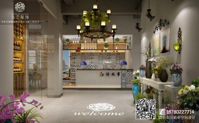 花坊故事坐落在成都邛崃市,餐厅中每一个区域都布满了绿植花卉,不只是装饰,而是填充。一角一落,满满的绿意扑面而来,除了花园式之外,设计师还融入现代时尚的设计理念。