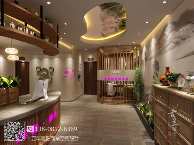 成都美容院设计公司-新繁蓉芳科技美容院设计装修图