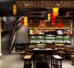 渭南中式火锅店设计装修公司|地瓜老