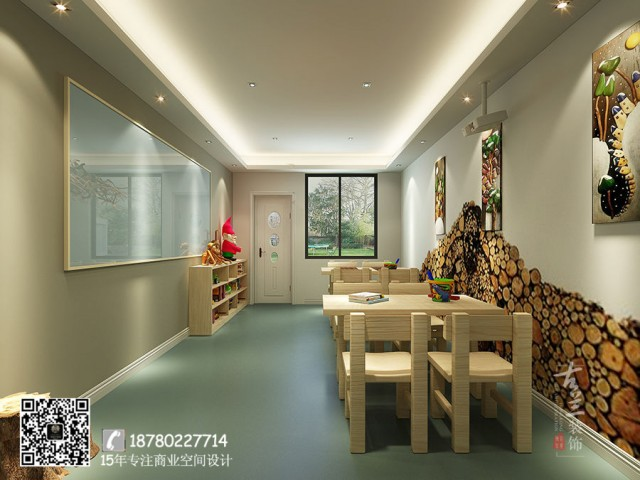 海南三亚早教中心设计公司-成都东方启迪艺术培训机构装修效果图