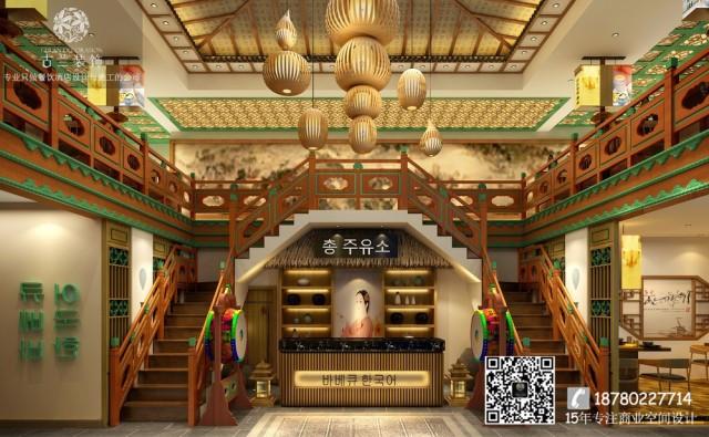 广州专注餐饮空间设计-南充高丽轩烤肉店概念店装修效果图