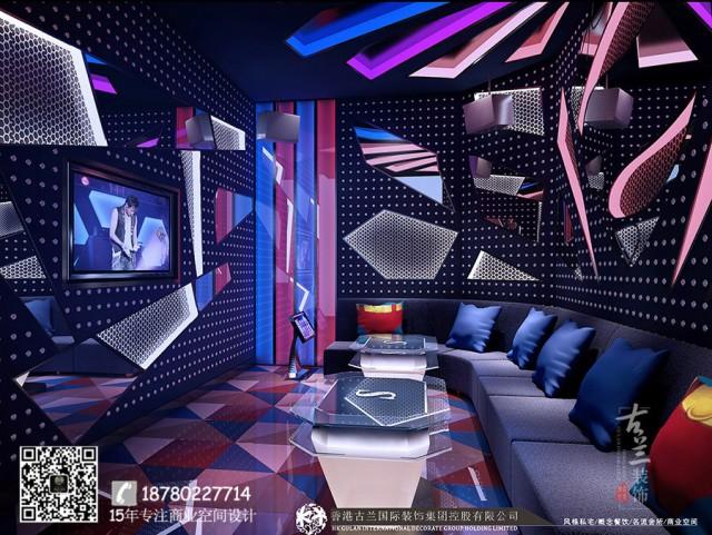 商丘ktv设计公司-重庆Sonar 主题Ktv装修效果图