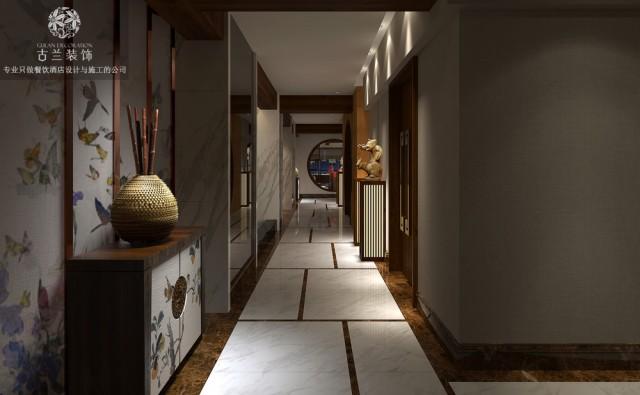 酒店走廊的设计取消就尽量不用没有必要的浮夸装饰造型。材料上基本采用环保、常规的材料。通过一定的处理手法实现空间所需要的艺术效果,达到节能环保。