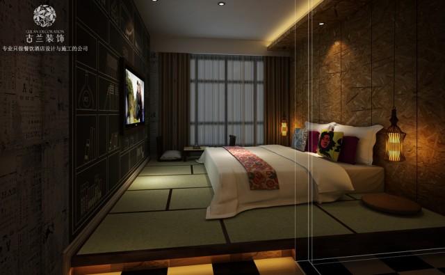 烟台遇尚艺术主题酒店装修效果图-济南专业酒店设计公司