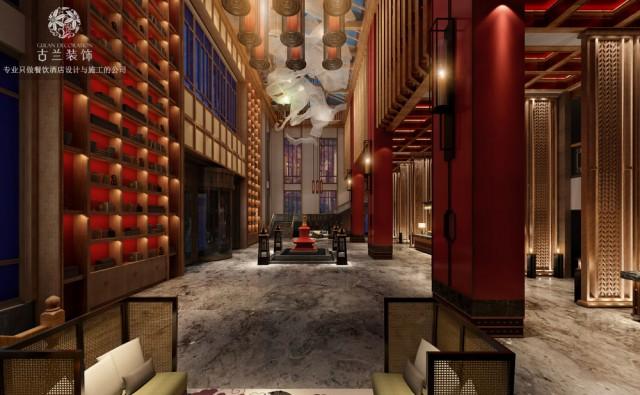"""九黄湾国际温泉度假酒店是真正的体验式温泉度假酒店设计、国际级的""""藏、羌、回、汉""""文化交融设计。"""