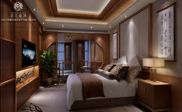 杭州酒店设计公司-成都茗山居主题酒店装修效果图