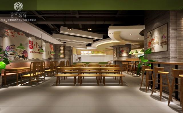 因为本店周边遍布写字楼,消费人群基本为上班族,所以在餐桌上我们考虑了条凳来提高就餐人数和翻台率,采用拼桌的形式来满足不同就餐人数,已达到整个空间的最高利用率。