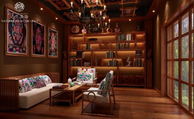 锦州酒店设计公司-羌文化主题度假酒店装修效果图