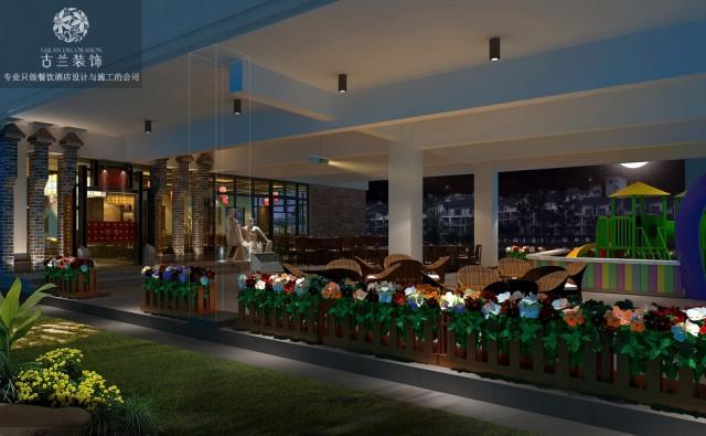 """设计说明:本项目位于四川著名的旅游胜地都江堰---柏条河南路中段,设计主题思想:本案的定位为大众化的百姓消费同时体现一定的文化主题,为火锅的经营赋予更有层次的文化内涵。因此在环境和空间设计上充分考虑其独特新颖性,体现""""二王宴""""品牌的特点和优势以吸引更多消费者的光临。空间基本功能划分.门厅玄关、休息等候区、总服务台、就餐区、包间和高档散座区、配餐明厨操作、卫生间……都江堰被誉为""""世界水利文化的鼻祖""""整个设计以李冰父子治水全线贯通,使就餐者无形中置身于四川的文化氛围之中,既享受了美食火锅又领略了都江堰文化的魅力。设计特点:具有老火锅本土文化特色的餐饮空间融入都江堰本土水文化特色、建筑文化特色、生活文化特色、饮食文化特色同时结合现代的手法提升空间的档次增设背景音乐和辅助灯光照明效果。"""