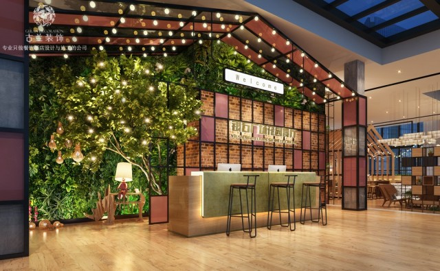项目名称:银石广场花园餐厅 项目地址:成都市银石广场顶楼