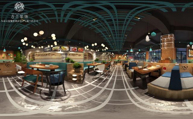 河北衡水餐厅设计装修公司-彭州荆都烤鱼店装修效果图