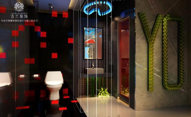 广东韶关餐厅设计公司-干杯台式烤肉主题餐厅装修效果图