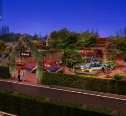 德阳花园餐厅设计公司-金都山庄农家
