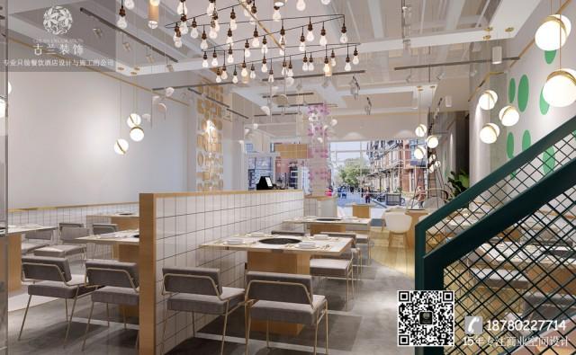 太原餐厅设计装修公司-鱼乐圈蒸汽石锅鱼主题餐厅装修效果图