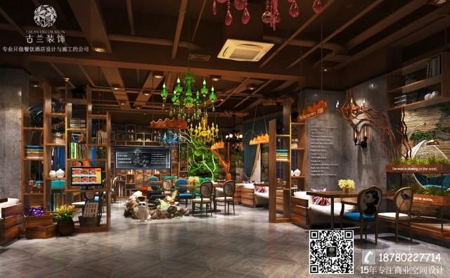 南宁餐厅设计公司-曲靖香樟树下西餐厅装修效果图